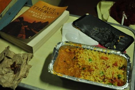 """A alternativa vegetariana ao """"thali"""" que escolhi para almoço, é """"biriani"""" tanbem de vegetais... bom mas muito picante."""