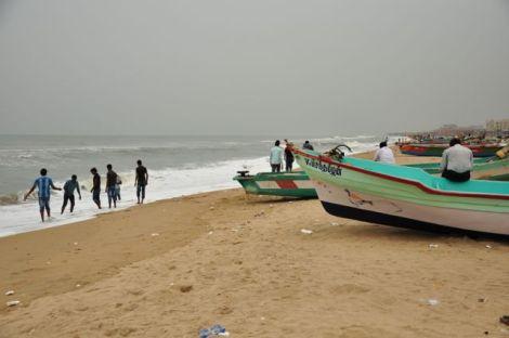 Marina Beach em Chennai