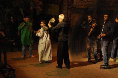 Procissão nos primeiros dia do Ashura. Shiraz