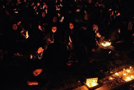 Ashura Candle Ceremony. Yazd