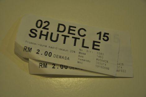 Tickets, Bus 690, from TBS to Pudu Sentral (Puduraya). Kuala Lumpur