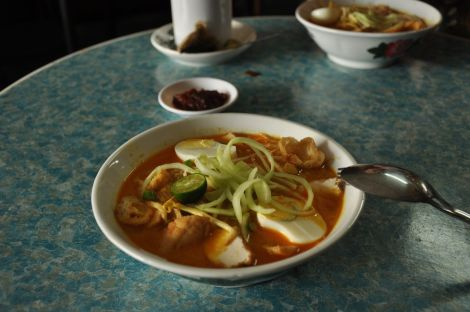 Laksa @ Sayyid Antique. Antique shop and restaurant. home-made Malay. food. Melaka