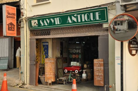 Sayyid Antique. Antique shop and restaurant. home-made Malay. food. Melaka