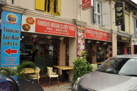 Famous Indian Curry Food Restaurant. Little India
