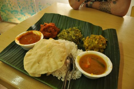veg thali @ Famous Indian Curry Food Restaurant. Little India