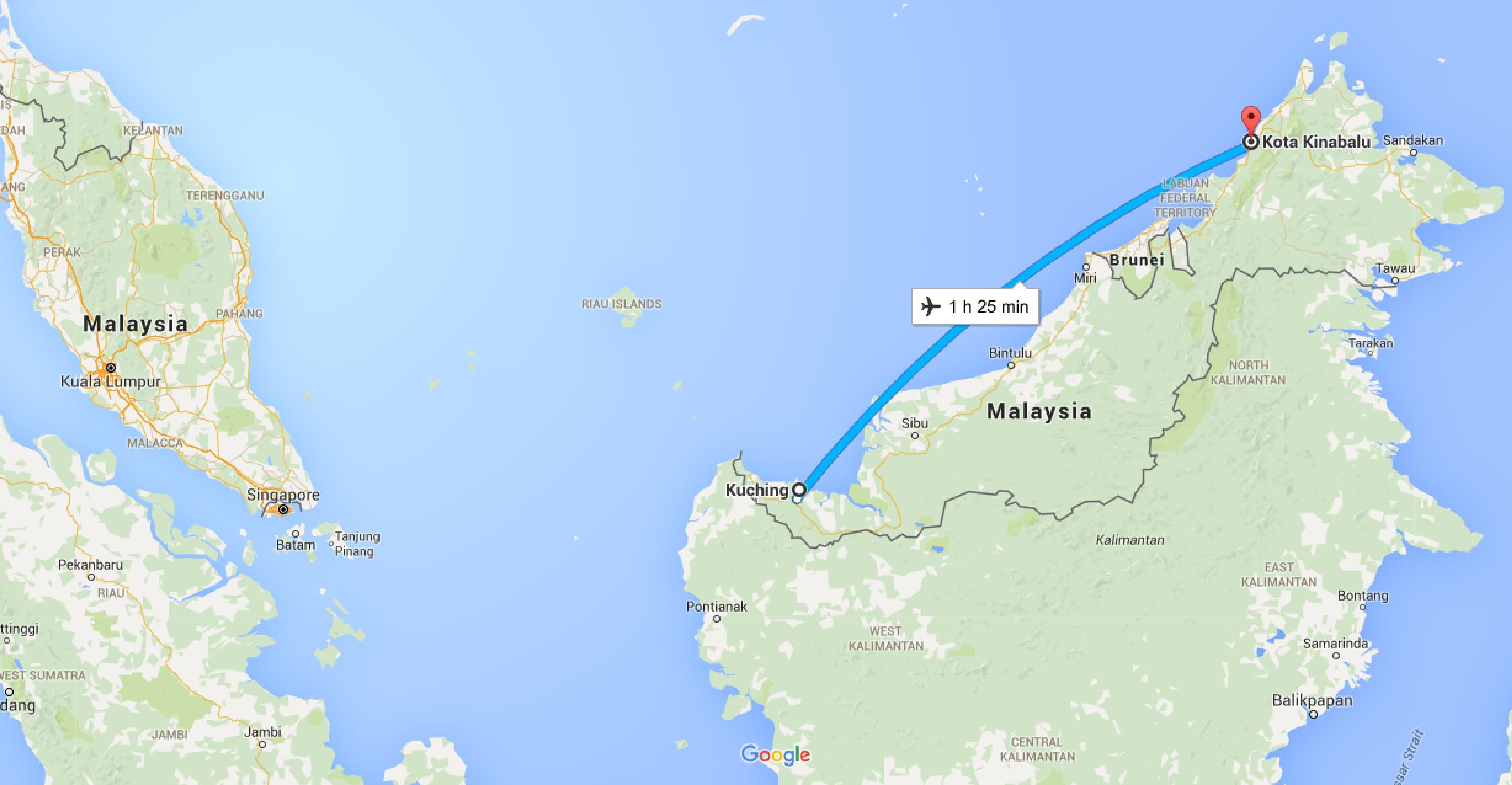 Kota Kinabalu Malaysia  city photos gallery : Kota Kinabalu to Kuching. Borneo. Malaysia