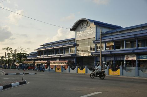Batticaloa Bus station. Sri Lanka