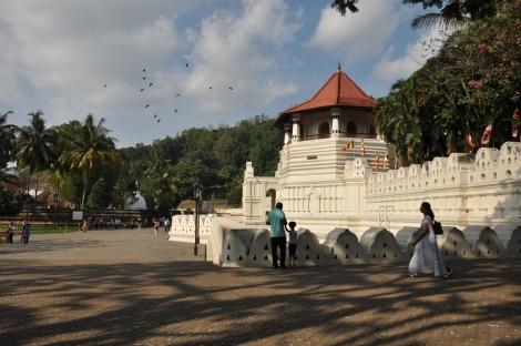 Buddhist Temple at Kandy. Sri Lanka