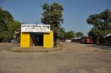 Ktaragama Bus station. Sri Lanka