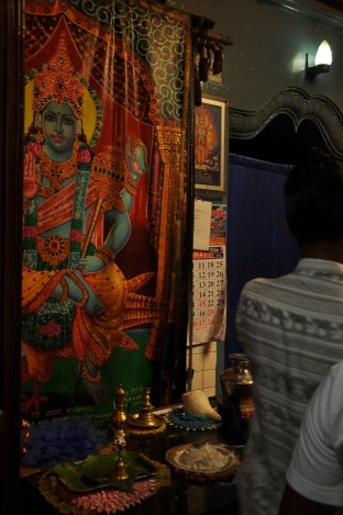 Hindu temple at Kataragama. Sri Lanka