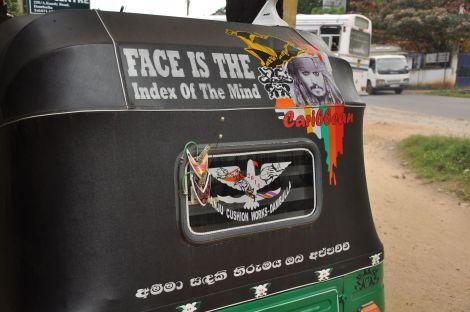 Face is the index of the soul... tuk-tuk. Sri Lanka